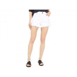 KUT from the Kloth Jane High-Rise Shorts with Fray Hem in Optic White