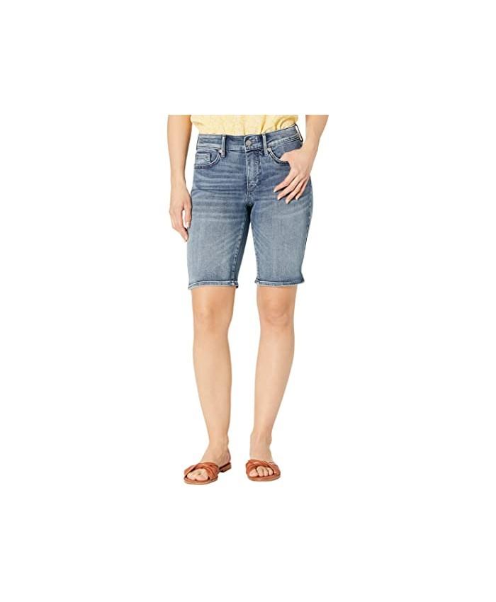 NYDJ Petite Petite Briella Denim Shorts in Monet Blue
