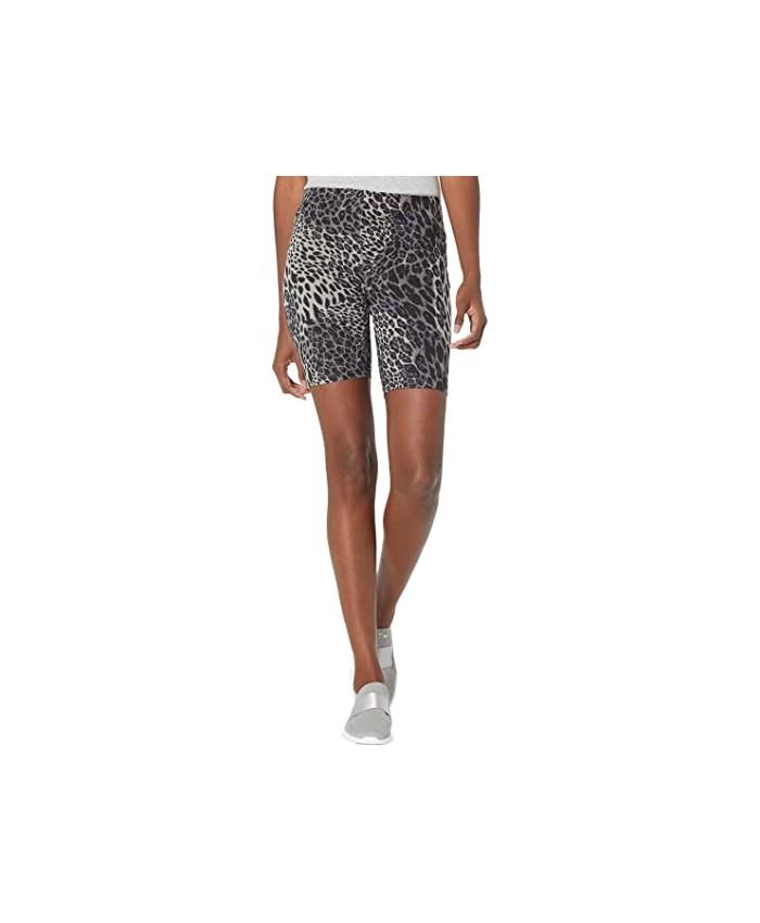 HUE Essentials Wavy Leopard Cotton Bike Shorts