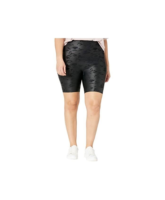 HUE Plus Size Sleek Effects High-Rise Bike Shorts