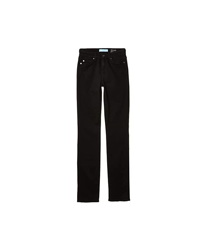 7 For All Mankind Kimmie Straight in B(Air) Black