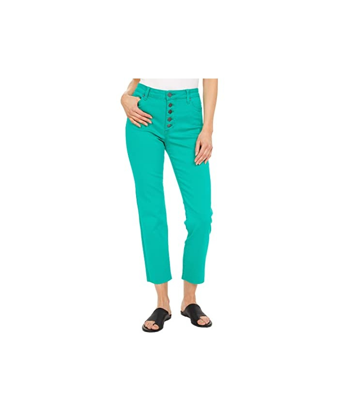 KUT from the Kloth Reese High-Rise Ankle Straight in Green