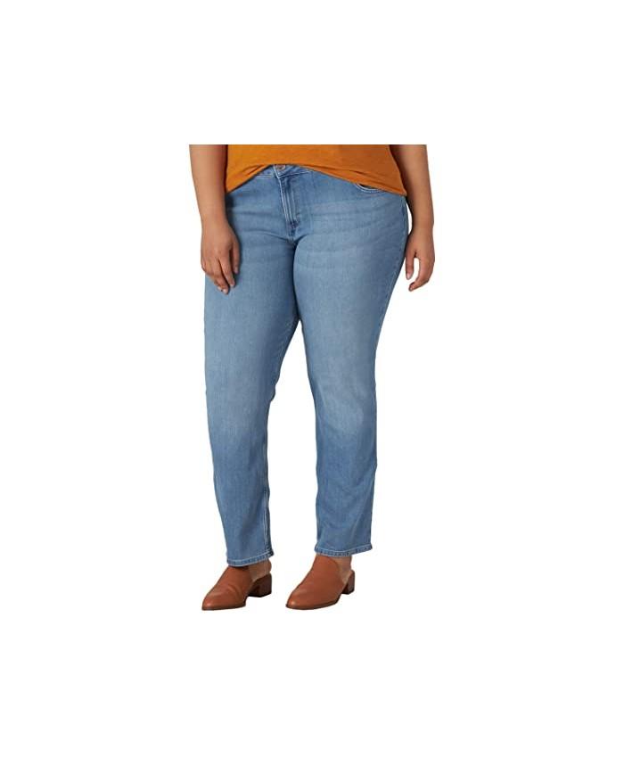 Lee Regular Fit Straight Leg Jeans (Plus)