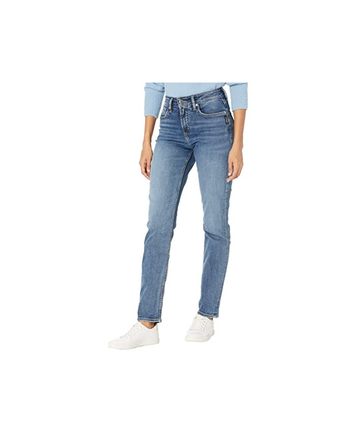 Silver Jeans Co. Avery High-Rise Curvy Fit Straight Leg Jeans L94443EPX226