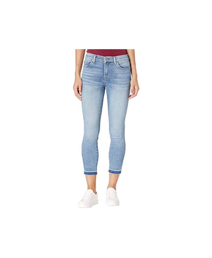 7 For All Mankind Cropped Skinny in Beau Blue