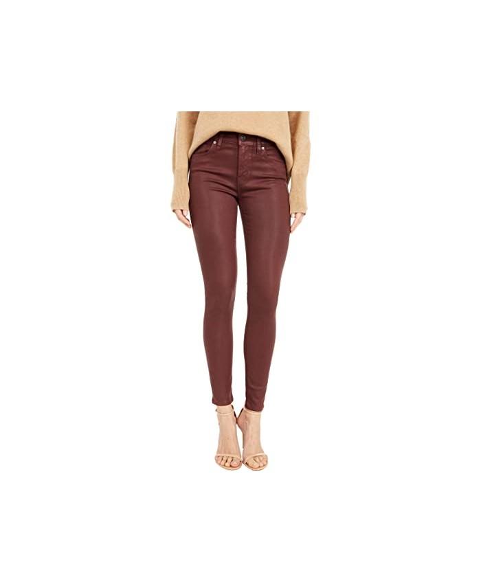 Hudson Jeans Nico Mid-Rise Super Skinny in High Shine Brick