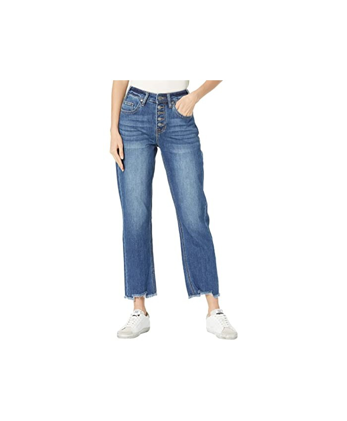 Rock and Roll Cowgirl High-Rise Cropped in Medium Wash WSC8230