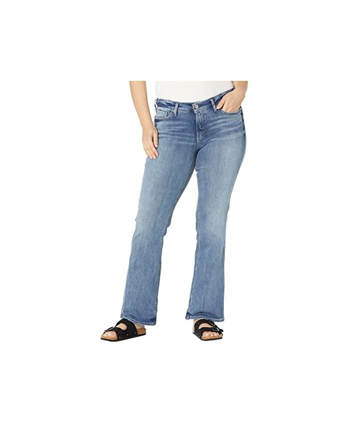 Silver Jeans Co. Plus Size Suki Mid-Rise Curvy Fit Bootcut Jeans in Power Stretch W93719EPX237