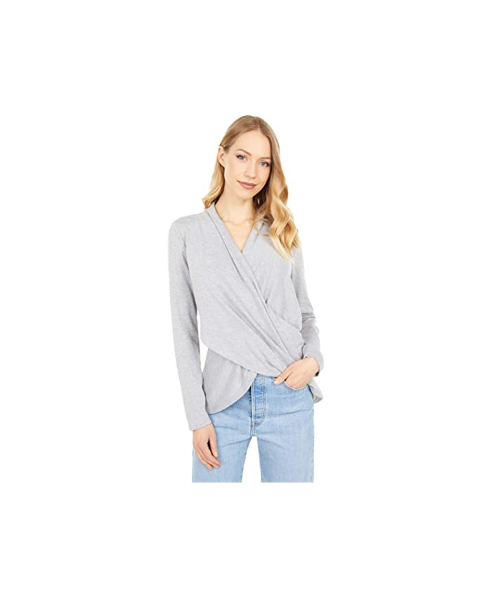 1.STATE Cross Front Cozy Knit Top