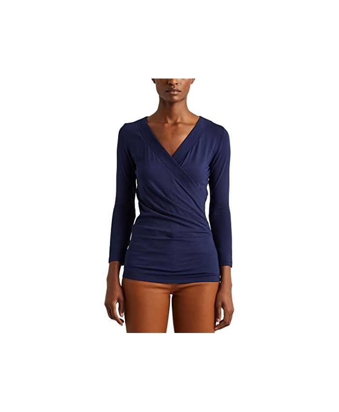 LAUREN Ralph Lauren Wrap-Style Jersey Top
