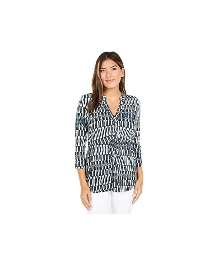 NIC+ZOE Batik Stripe Top