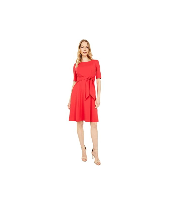 Adrianna Papell Crepe Tie Front Fit-and-Flare