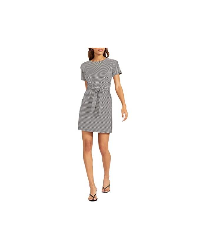 BB Dakota x Steve Madden Desires Lines Dress - Striped French Terry Tie Front Dress