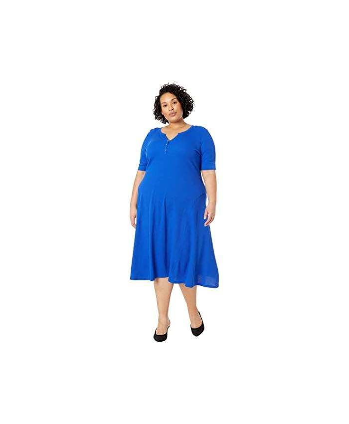 LAUREN Ralph Lauren Plus Size Cotton Henley Dress