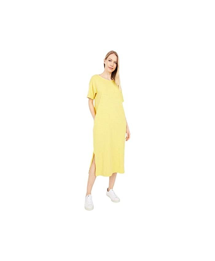 Mod-o-doc New Slub Jersey Short Sleeve Midi T-Shirt Dress