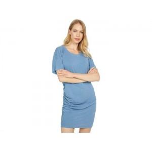 SUNDRY Side Shirred T-Shirt Dress
