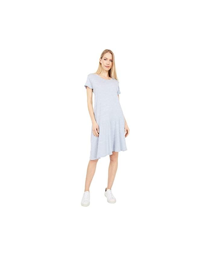 Dylan by True Grit Soft Melange Heather Slant-Hem Dress