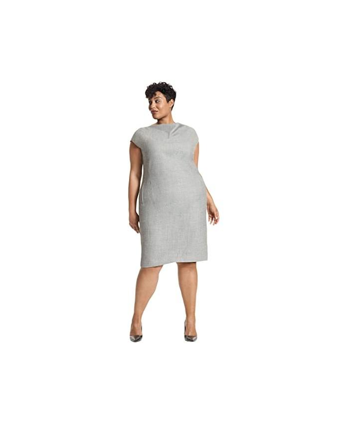 M.M.LaFleur Plus Size Marilyn Dress - Sharkskin