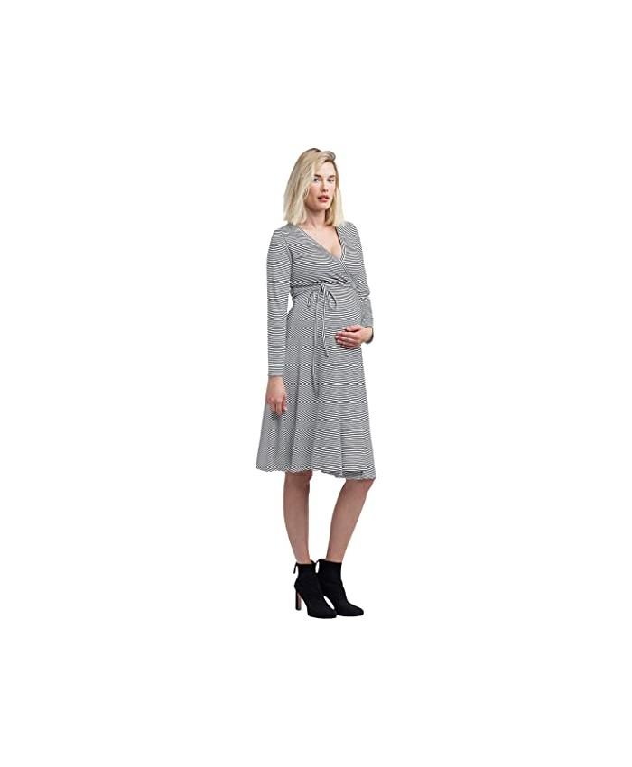 NOM Maternity Tessa Maternity + Nursing Wrap Dress
