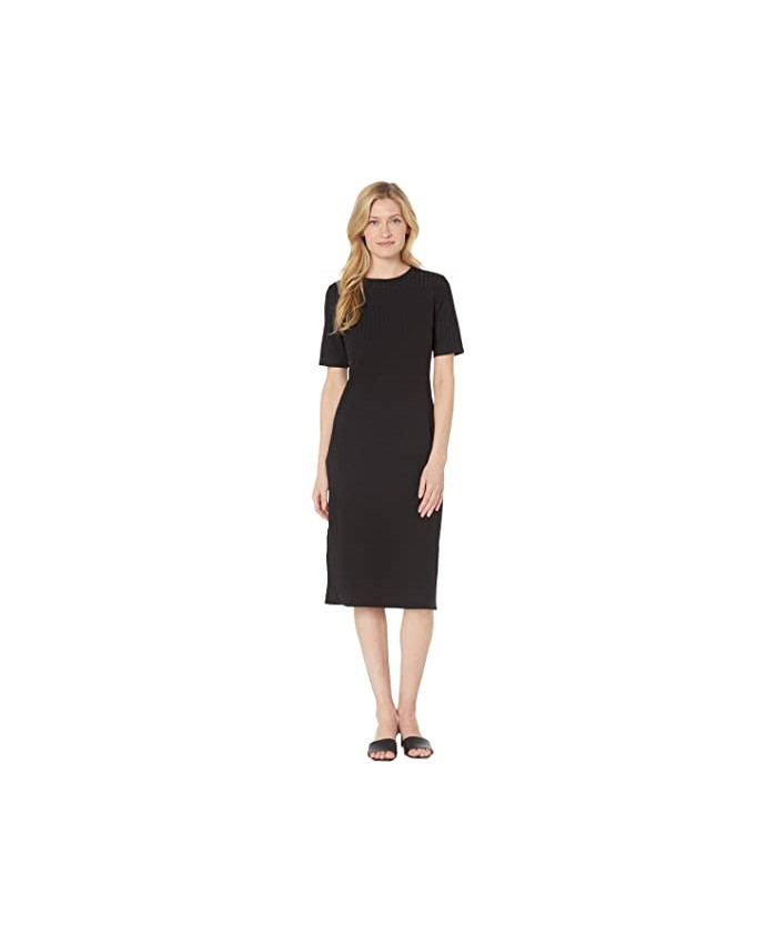 Vince Camuto Cap Sleeve Solid Rib Knit Dress