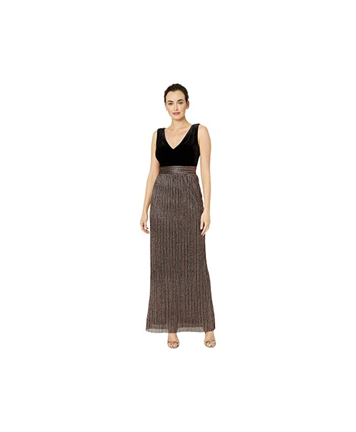 Vince Camuto Sleeveless V-Neck Gown